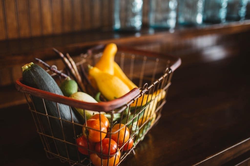 basket of produce showing diversity